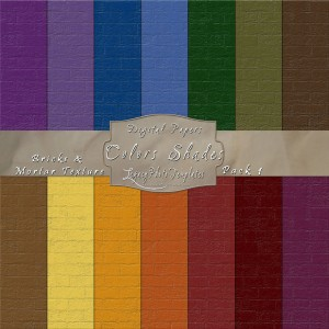 12x12 Texture Color Shades - Pack001 Display