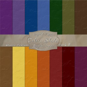 12x12 Texture Color Shades - Pack009 Display