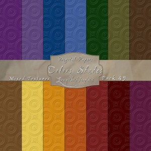 12x12 Texture Color Shades - Pack045 Display