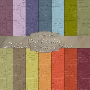 12x12 Texture Muted Colors - Pack002 Display