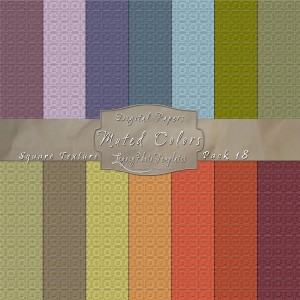 12x12 Texture Muted Colors - Pack018 Display