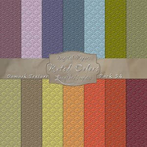 12x12 Texture Muted Colors - Pack034 Display