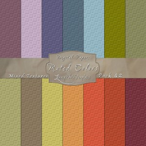 12x12 Texture Muted Colors - Pack042 Display
