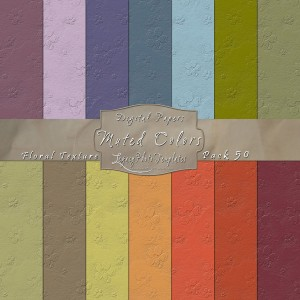 12x12 Texture Muted Colors - Pack050 Display