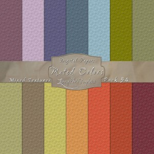 12x12 Texture Muted Colors - Pack054 Display
