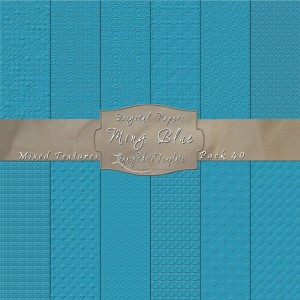 12x12 Textures Ming Blue DP40 Display