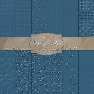 12x12 Textures Ocean Blue DP17 Display