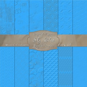 12x12 Textures Sky Blue DP46 Display