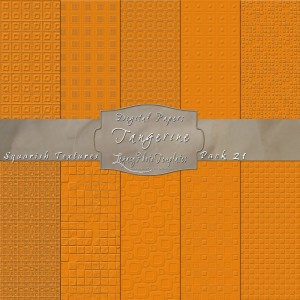 12x12 Textures Tangerine DP21 Display