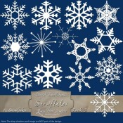 14 White Snowflakes – Pack 3