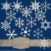 15 White Snowflake – Pack 5